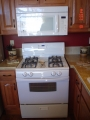 White Whirlpool Gas Range with Optional Microwave